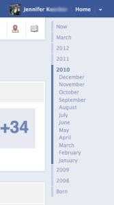 Facebook Timeline's timeline